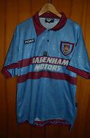 WEST HAM UNITED ENGLAND CENTENARY 1995/1996/1997 AWAY FOOTBALL SHIRT JERSEY PONY