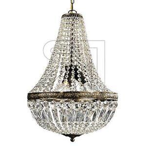 Das Bild Wird Geladen Kronleuchter  Luester Krone Mit Behang Kristallbehang Gold Braun