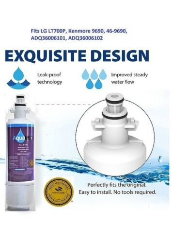 469690 Fits LT 700P, ADQ36006102 Kanmore Elite 9690 Refrigerator Water Filter