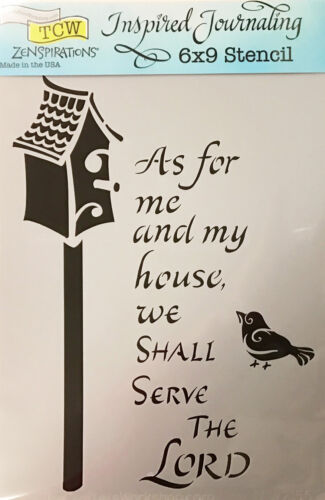 """The Crafter/'s Workshop Stencil My House 6/"""" x 9/"""" Bible Journaling TCW2155"""