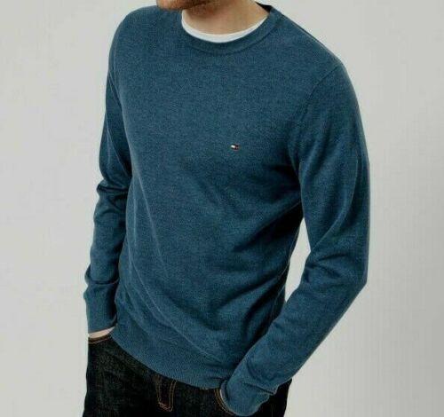 Tommy Hilfiger CREW NECK 100/% Cotton Knit Pullover Jumper Sweatshirt