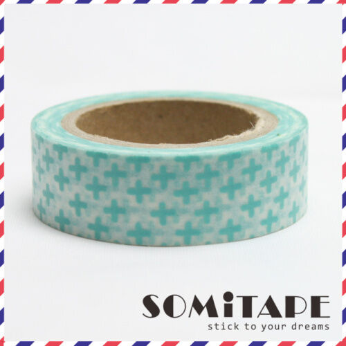 Green Cross Washi Tape, Craft Decorative Tape