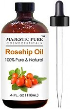 Rosehip Oil for Face, Nails, Hair and Skin From Majestic Pure - 100% Pure, Cold