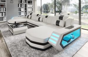 Divano Ad Angolo In Pelle : Sofa dreams divano in pelle berlino a forma di l nero lusso divano