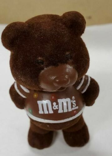 M/&M MARS CANDY VINTAGE FLOCKED BEAR M/&M/'s PLAIN CHOCOLATE CHUMS FIGURE