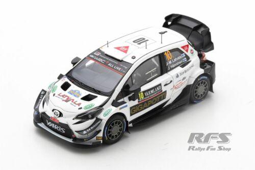 Toyota Yaris WRC Rally suecia 2020 Latvala Hänninen 1:43 Spark 6570 nuevo