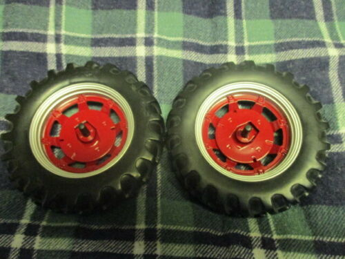 1//16 International farmall 656 hydro 70 rear rims tires wheels tractor parts