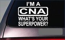 "CNA Superpower *G375* 8"" sticker Decal nursing rn lpn scrubs uniform hospital"