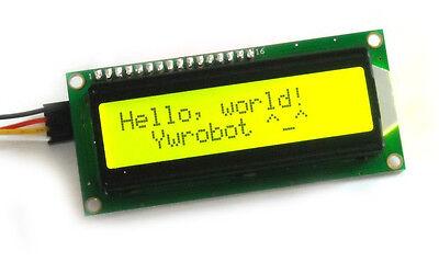 Yellow IIC/I2C/TWI 1602 Serial Backlight LCD Display For Arduino B3-004