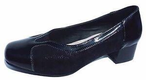 san francisco f2889 46eb8 Dettagli su scarpe donna classiche con tacco medio scarpe comode morbide  eleganti nere