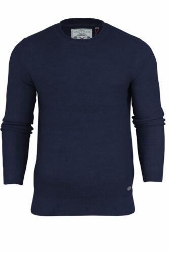 "New Men/'s Brave Soul /""Warren/"" Trendy Rolled Crew Neck Sweater Top from S-XL"