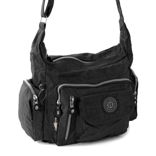 Bolso bandolera nylon negro Deportivo de hombro para mujer Bag Street Otj204s