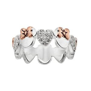 DISNEY-MINNIE-ETERNITY-14K-ROSE-GOLD-amp-SILVER-BONDED-CRYSTAL-RING-SIZE-7-8-9