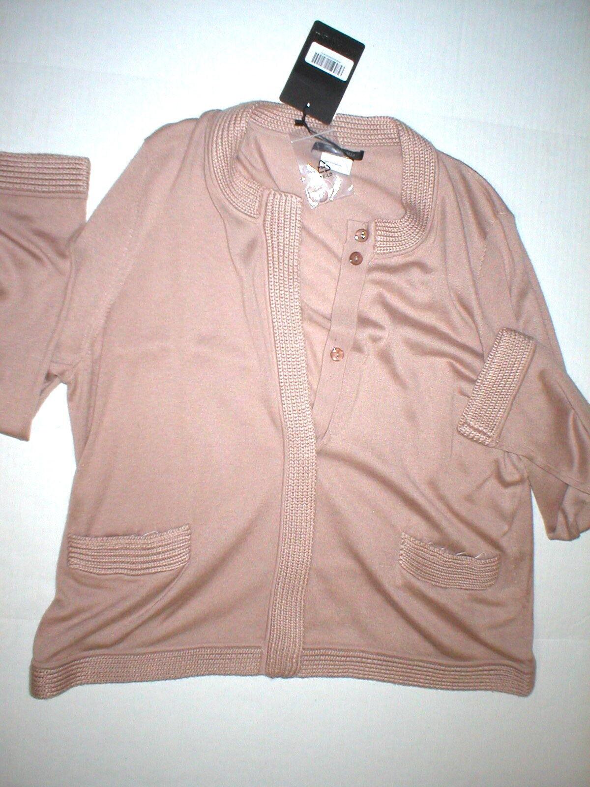New NWT    735 Womens Max Mara Marina Rinaldi Cardigan Sweater L Silk Cashmere Pin 1d78c8