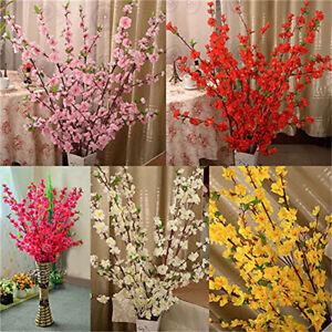 65cm-Artificial-Cherry-Plum-Peach-Blossom-Branch-Spring-Flower-Tree-Stem-G9A