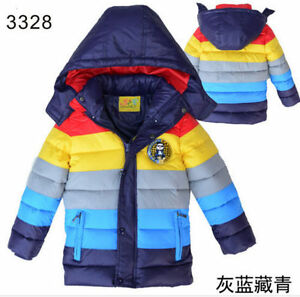 a9d126c7e Details about New Fashion Kids Boys Girls Coat Winter Warm padded cotton  Down Short Jacket