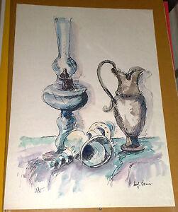 Litografia-dipinta-a-mano-Luigi-Bioni-1979