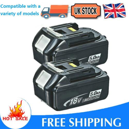 2Pack 18V 18 Volt 5.0Ah Battery for Makita LXT BL1830 BL1850 BL1860 LITHIUM ION