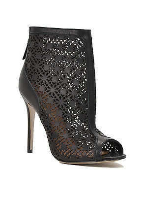 July Peep Toe Laser Cut-Out Ankle Boot by Badgley Mischka