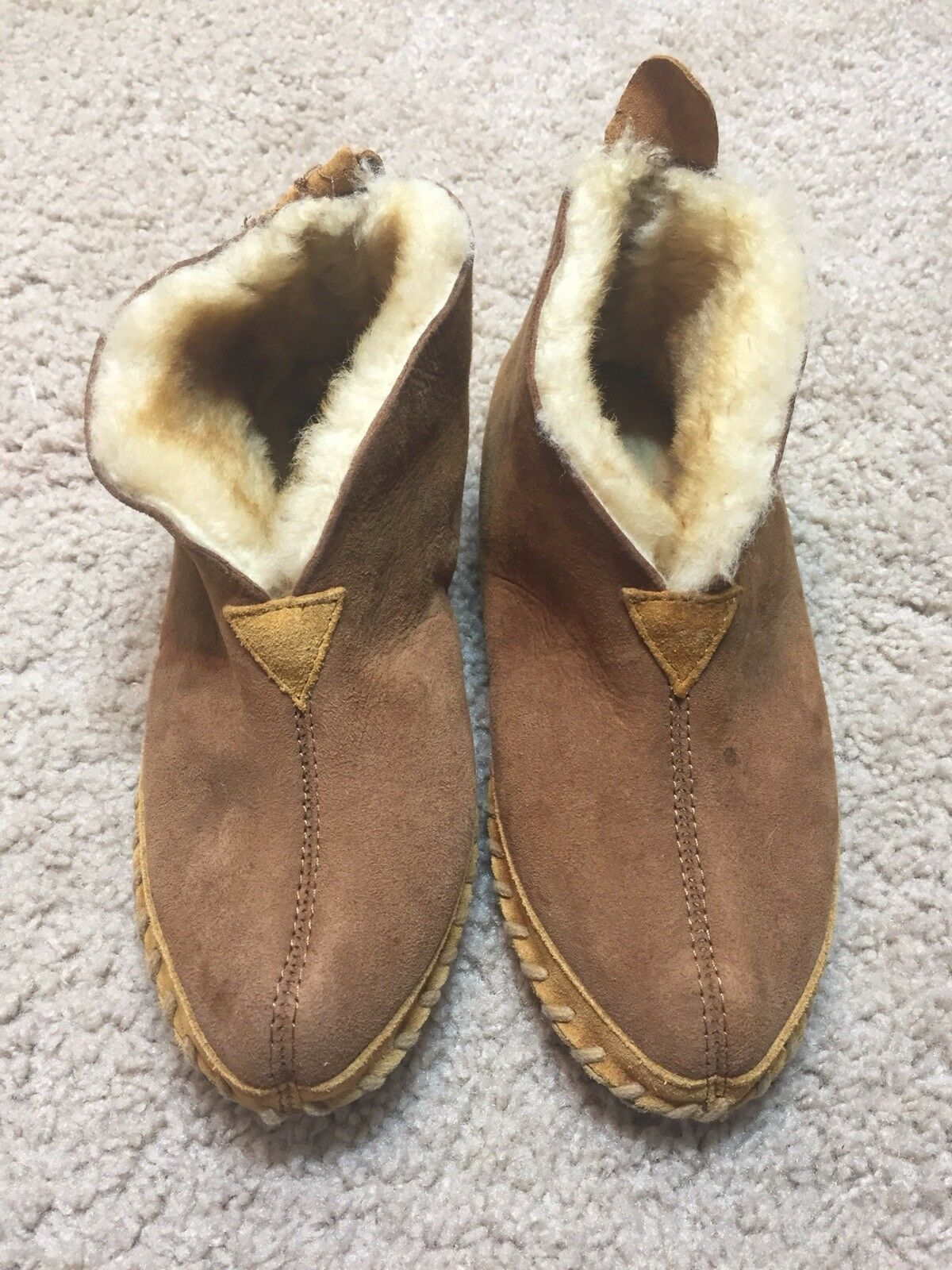 LL Bean Botties Sheepskin Shearling Chestnut Brown Size 6 shoes  Sleepers