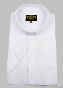 7fbbeb79928 Image is loading Men-039-s-White-Clergy-Shirt-Short-Sleeve-