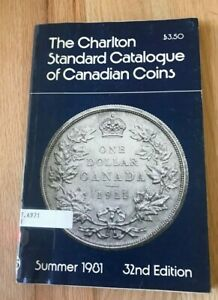 1981 Standard Catalogue Of Canadian Coins Tokens Paper Money Charlton Ebay