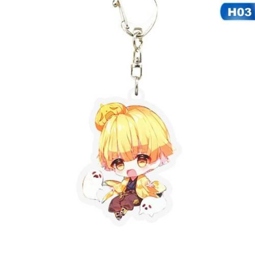 Details about  /Demon Slayer Kimetsu no Yaiba Anime Acrylic Keychain Nezuko Key Ring Great Lssed