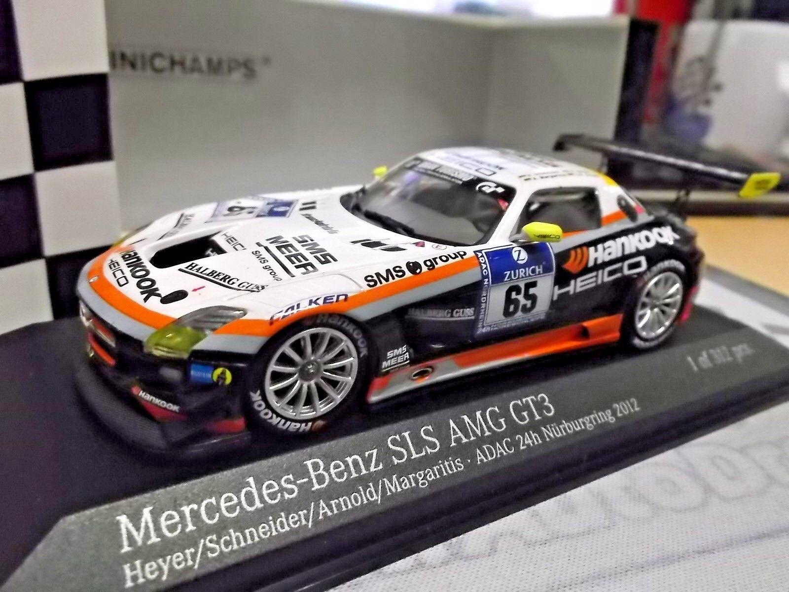 Mercedes Benz Sls amg gt3 24 H Nurburgring 2012 HANKOOK Heico Schneider  65 1 43