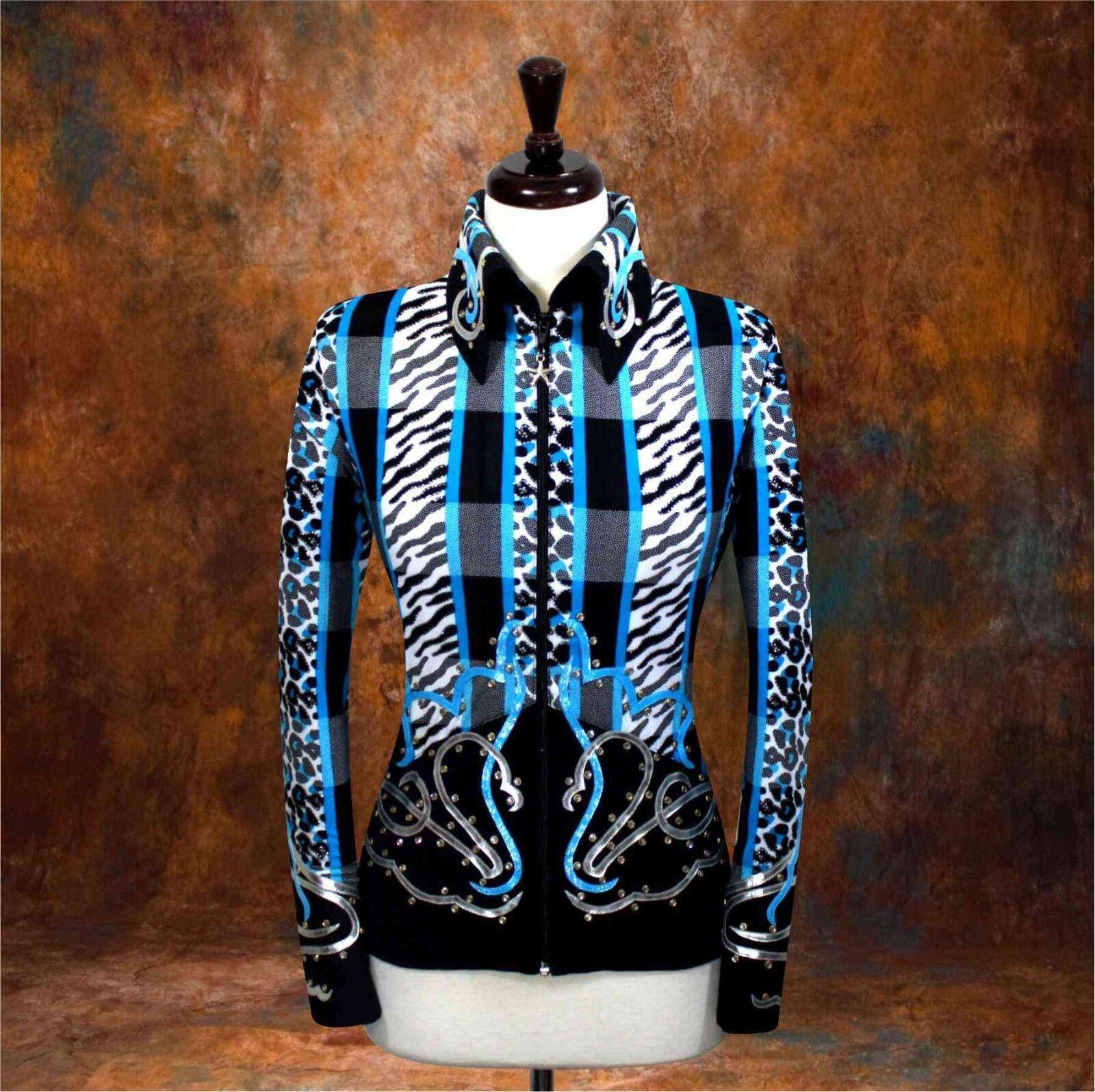 2X-LARGE Western Espectáculo Ocio Equitación Camisa Chaqueta Rodeo Queen