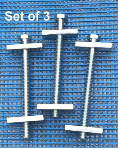 1//4-20 x 3 1//2 Hex Draw Bolt Zinc Plated Set of 3