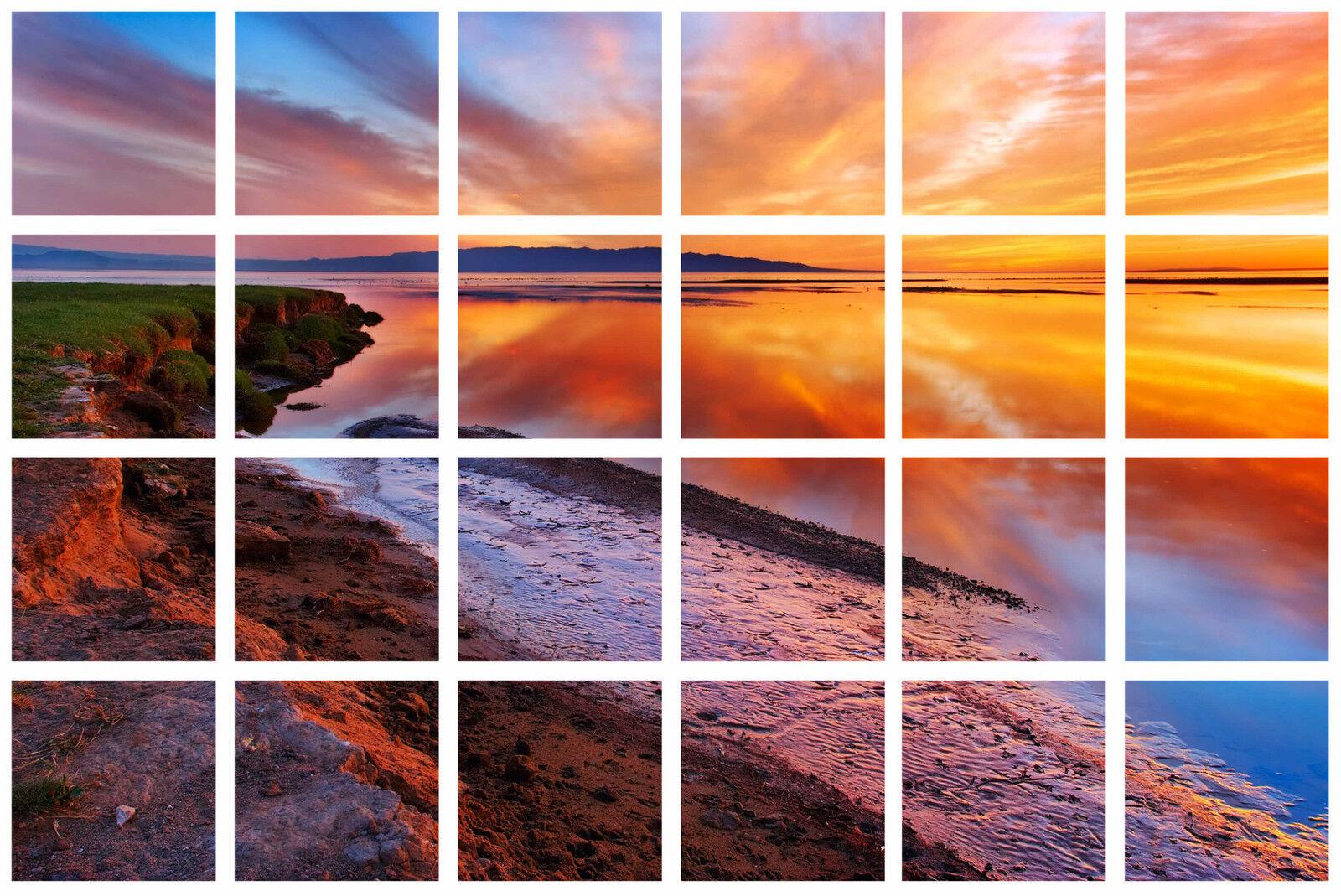Adesivo decocrazione design tramonto tramonto 100x65cm