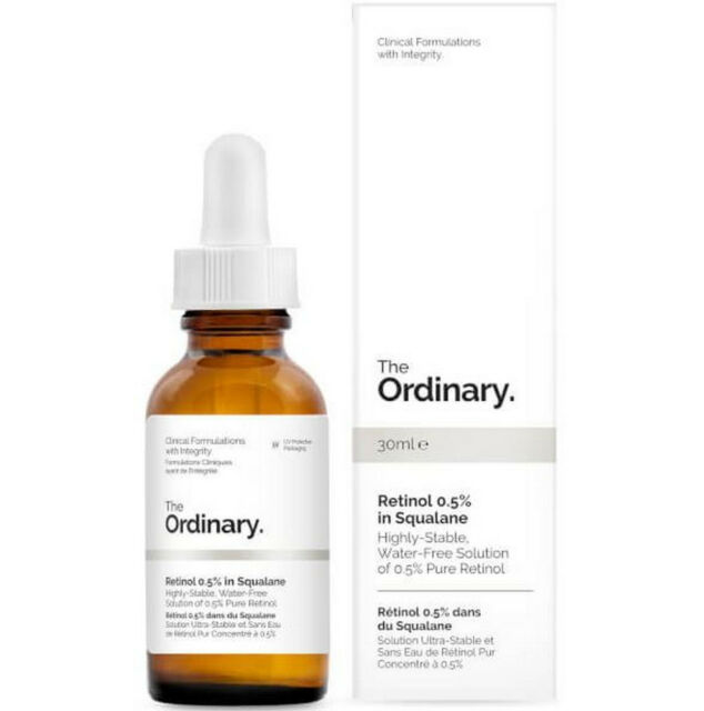 The Ordinary Retinol 0.5% in Squalane Water Free Plumping Firming Serum 30ml New
