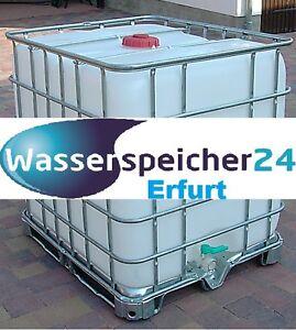 ibc 1000 liter tank wasserspeicher zisterne fass beh lter f r wasser regen ebay. Black Bedroom Furniture Sets. Home Design Ideas