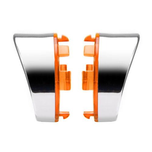 Turn Signal Light Amber Lens Cover Bezels Visor Fit For Harley Davidson Softail