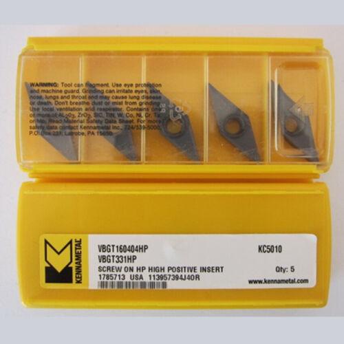 Kennametal VBGT160404HP KC5010 VBGT331HP KC5010 CNC Carbide inserts 10Pcs New