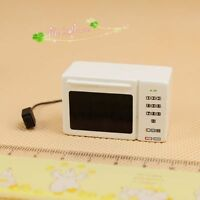 1:12 Miniature Dollhouse Fitting White Microwave Oven 62017