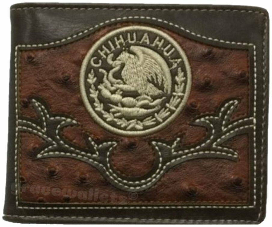 Chihuahua Mens Wallet Western Bifold Style W072-1 Brown