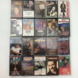 20 Cassette Tape Lot Country & Western