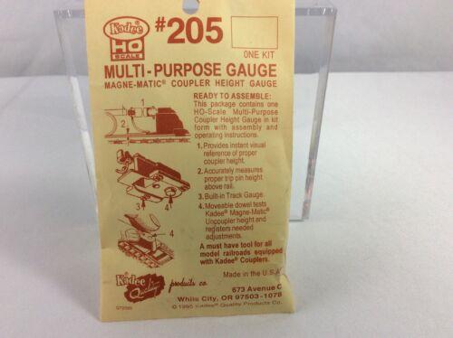 Kadee #205 HO Scale Multi-Purpose Gauge Magne-Matic Train Coupler Height Gauge
