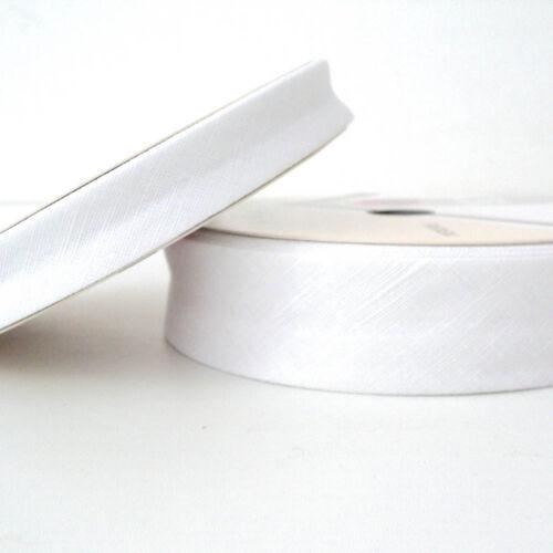 Linen  Bias Binding Cotton Fabiric Folded Trim 30mm White