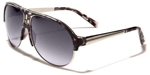 Khan New Mens Womens Fashion Sunglasses Designer Vintage UV400 Black Pilot 1021