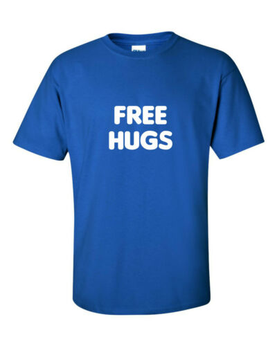 FREE HUGS funny mens t shirt  humour GIFT JOKE IDEA FUNNY HUMOUR