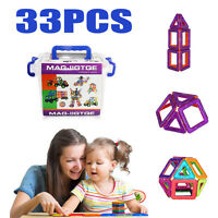 Us Stock 33pcs Magnetic Construction Building Set Toys Play Game Education Block