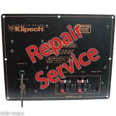 Klipsch ProMedia 4.1 Amplifier Preamplifier Volume Control Pod Speakers v.2-400