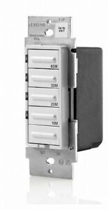 Details About Leviton Ltb60 1lz 20a 1hp Preset 10 20 30 60 Minutes Countdown Timer Switch