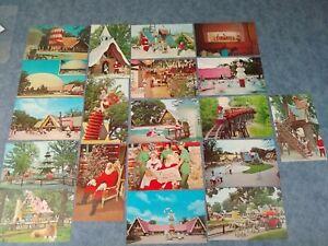 LOT-19-IL-Dundee-SANTAS-VILLAGE-Roadside-Attraction-Santa-Claus-postcard-L117