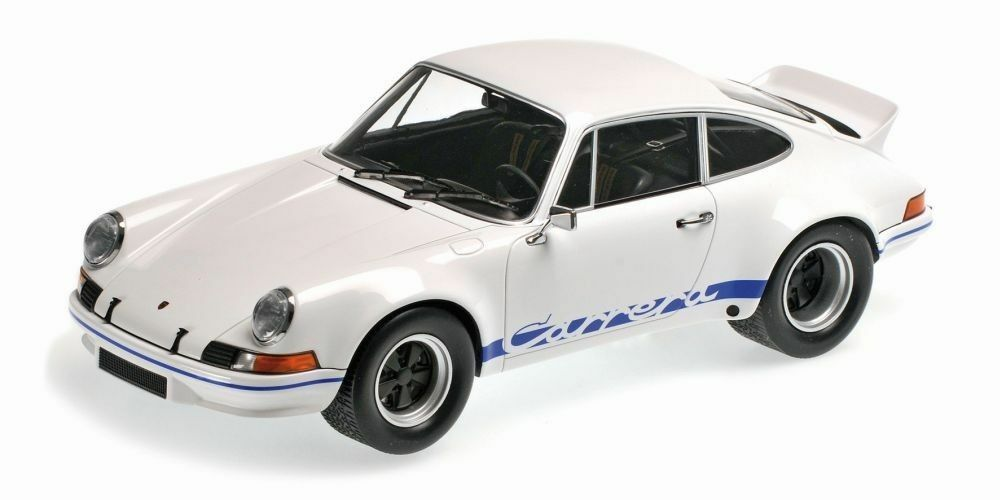 Minichamps  porsche 911 rsr 2.7  1972  blanco azul stripes  nuevo  embalaje original  1 18