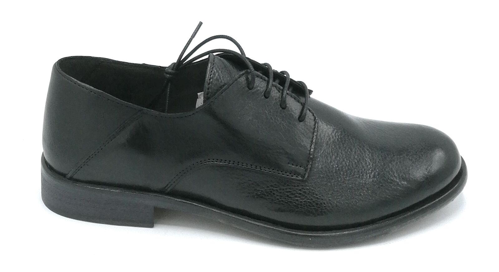 Exton 3101 Shoe Lace Up Black Leather W