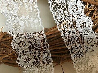 "laverslace Beautiful Ivory Delicate Flat Lace trim 1.5/""//4cm Crafts Wedding"