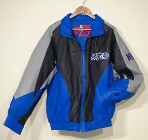 66b4b1448f3 Rare Vintage 90s Orlando Magic Leather Jacket Pro Player Mens M NBA ...